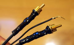 Repaired tonearm cable